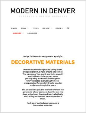 Modern in Denver  – Design in Bloom Event Sponsor Spotlight