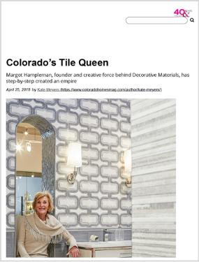 Colorado Homes & Lifestyles  – Colorado's Tile Queen